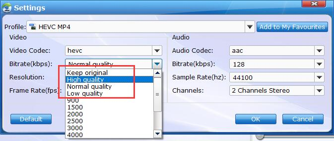 Advanced Settings for Blu-ray to HEVC MP4