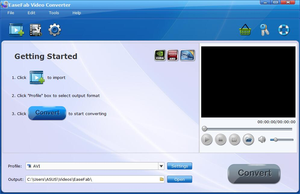 EaseFab Video Converter Screenshot